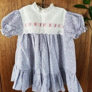 Vintage Lavender Flower Lacey Dress